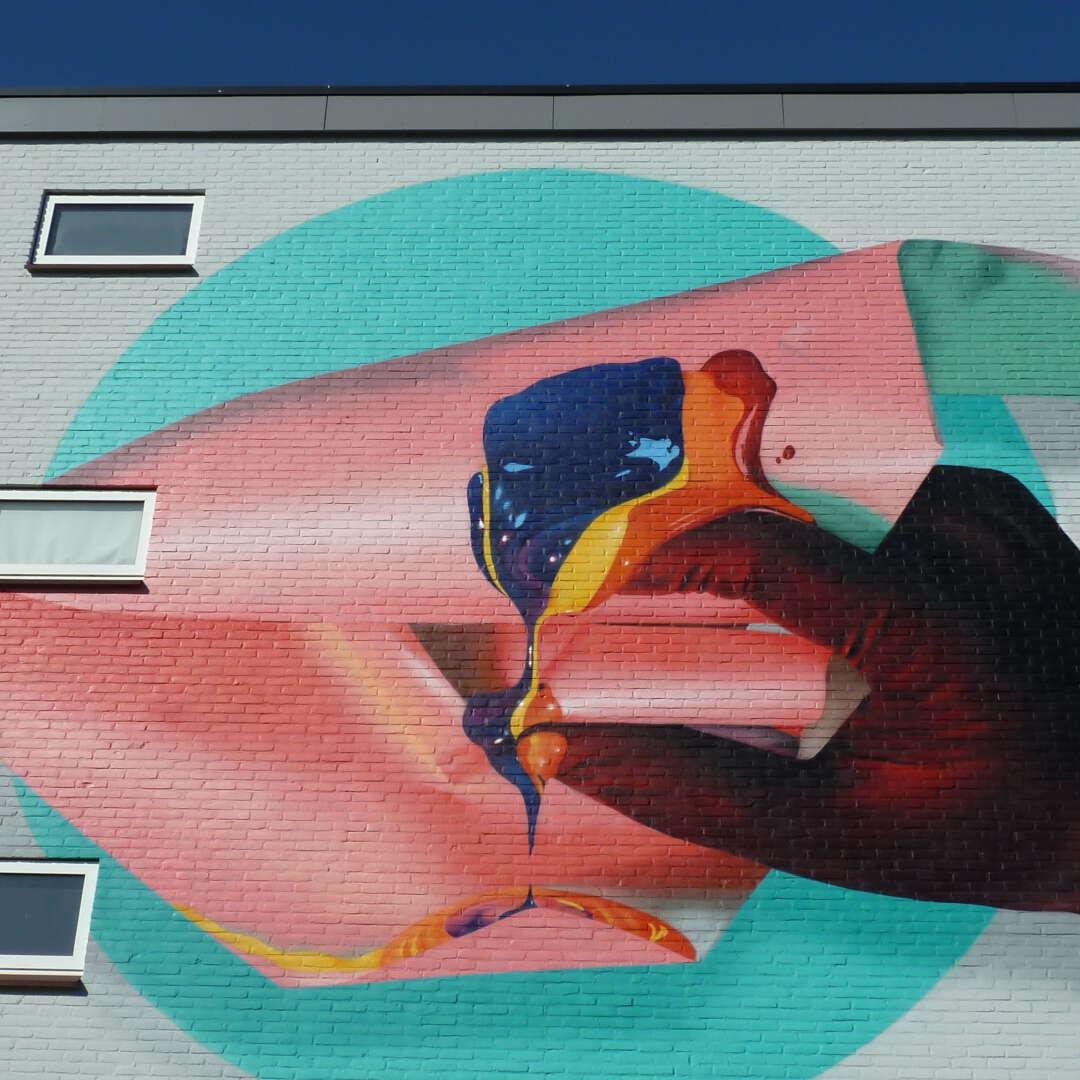 Mural art hand