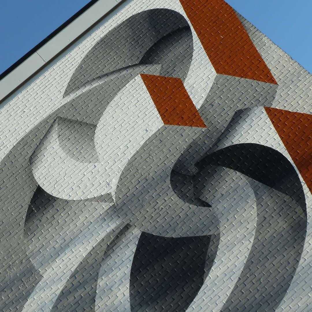 Mural art krullen vlakken