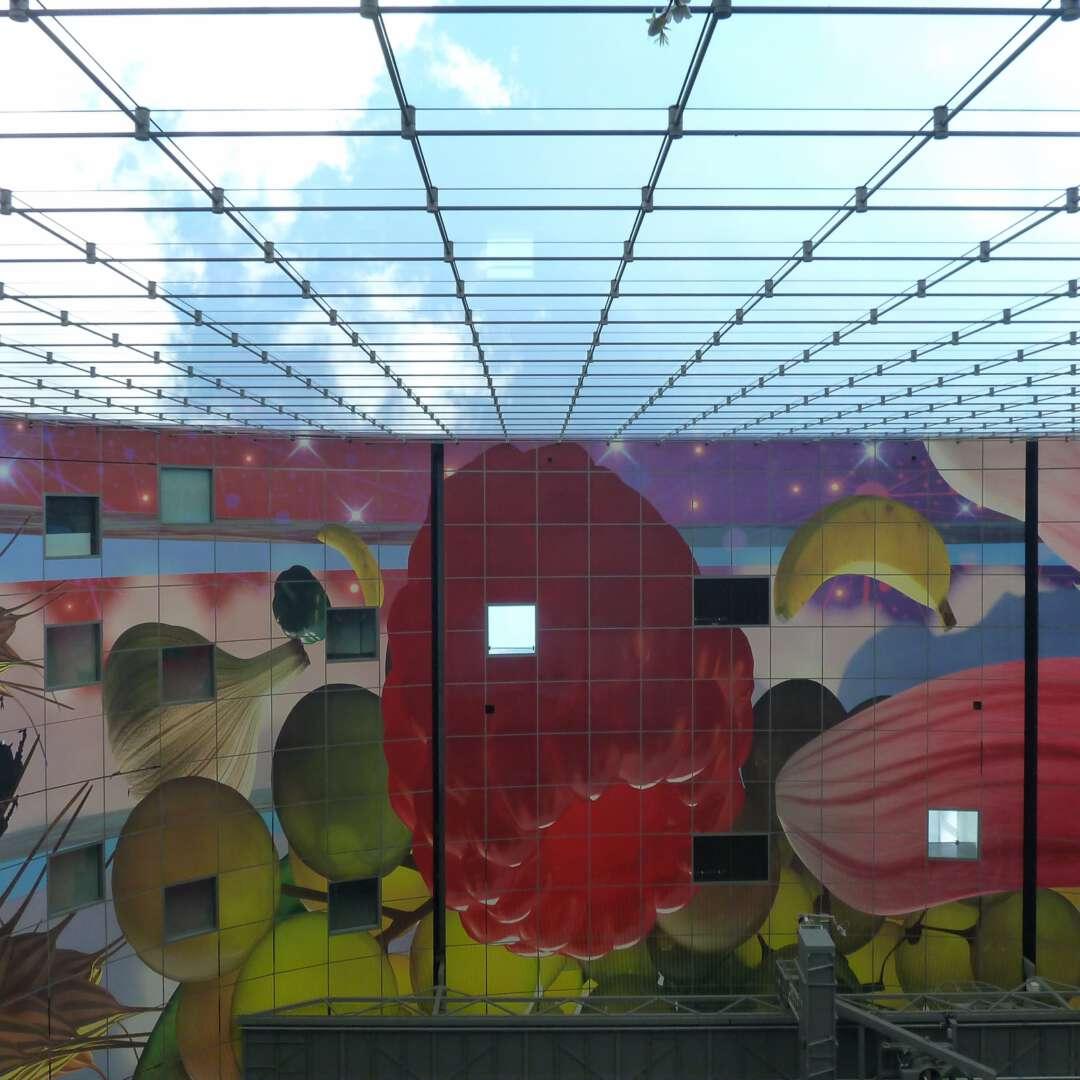 Glaswand plafond markthal