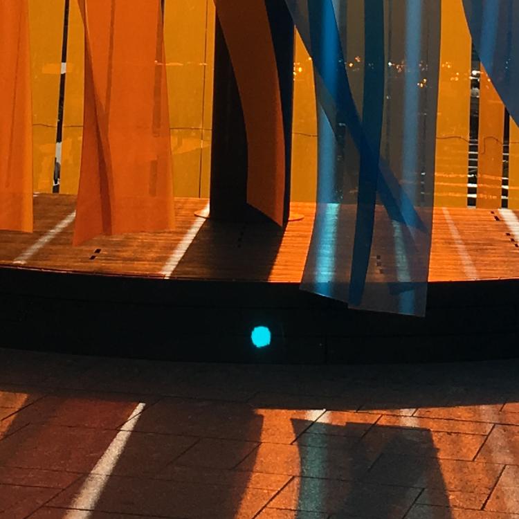Oranje blauw lamellen